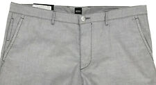 Men's HUGO BOSS Gray Grey Lightweight Pants 38 / 38R (Euro Size 54) NWT Slim Fit