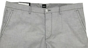 Men's HUGO BOSS Gray Grey Lightweight Pants 36 / 36R (Euro Size 52) NWT Slim Fit