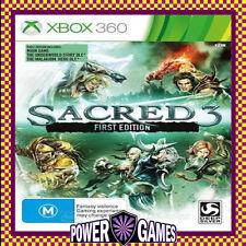 SACRED 3 FIRST EDITION (Microsoft Xbox 360) Brand New