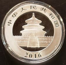 2016 Chinese Panda 1 oz 999 Fine Silver Coin - Mint Condition in Capsule