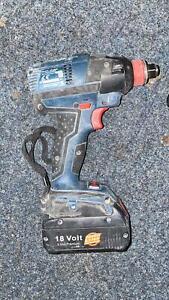 Bosch GDX 18 V-EC 18V Li-ion Brushless Impact Wrench Driver + 5.5AH Generic Batt