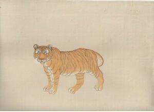 Bengale Tigre Main Peinture Aquarelle Miniature Vie Sauvage Peint Décoratif