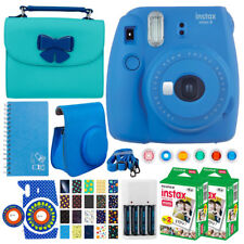 Fujifilm Instax Mini 9 Instant Film Camera (Cobalt Blue) + Full Accessory Bundle