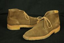 Polo Ralph Lauren Dark Brown Suede Chukka Boots Bench Made In England 10 D Crepe