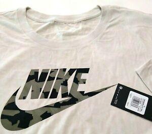 Nike Men's 3xl 3XL Brown White Green T Shirt Camouflage Camo Cotton NWT 9-721896