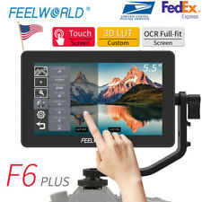 "FEELWORLD F6 PLUS Monitor 5.5"" 3D LUT 4K HDMI Video On Camera For DSLR IN Stcok"