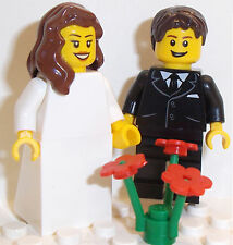 Lego Bride and Groom Minifigs CHOICE of HAIR, HEADS, FLOWERS or SUITS AVAILABLE