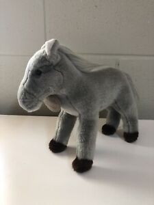 "Yomiko Classics Gray Stallion Horse Soft Plush Animal 8"" Russ Berrie Grey Pony"
