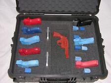 "Custom 10 pistol handgun foam insert fits your Pelican â""¢ 1610 case +nameplate"
