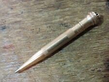 Vintage Gold Filled Lined EVERSHARP Mechanical Pencil twist active Ring top USA