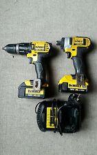 Dewalt Impatto Driver DCF885 20 V Max & Combi Trapano 2x BATT Caricabatterie