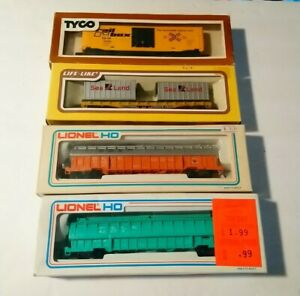 Lionel/Tyco/LL HO Train Lot of 4 NEW Rolling Stock Freight Cars P&LE/B&LE