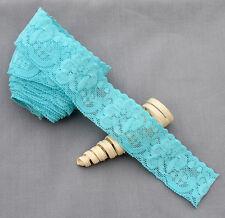 "5 Yards Elastic Lace 1.5"" Stretch Lace Elastic Lace Trim Elastic Headband Bridal"