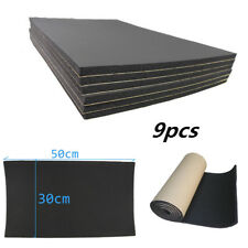 9pcs 6MM Car Sound Proofing Deadening Mat Deadener Insulation Dampening Material