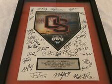 2013 Oregon State Beavers Team Signed College World Series Hologram Plaque RARE