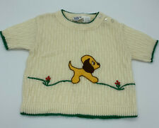 Vintage Little Angel Striped Sweater Toddler Boy's Size 18 Month Puppy