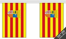 ARAGON BUNTING 9 metres 30 flags Polyester flag SPAIN SPANISH