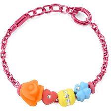 Bracciale Morellato Collez.Drops Colours art.SABZ171 Alluminio rosa 4 charms