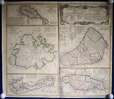 KARIBIK - Inseln Kupferstichkarte von Homann 1740 ORIGINAL!
