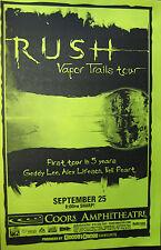RUSH POSTER Vapor Trails Tour Coors Amphitheatre produced HOUSE OF BLUES