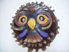 OWL Patio Wall Sculpture 3D Metal Outdoor Art - Medium