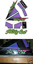1993 1994 KITTY CAT DECAL SET ARCTIC CAT SLED GRAPHICS REPRODUCTIONS