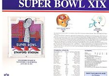 Super Bowl XIX 49ers Miami Dolphins Willabee & Ward Jersey Patch Joe Montana MVP