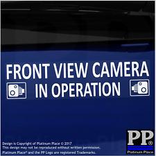 1 x cámara de vista frontal en funcionamiento Pegatinas-Externo Cctv signos-van, taxi, coche, taxi