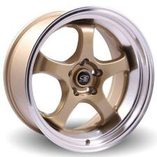"18"" ROTA D2-EX Gold / Polish Lip WHEELS RIMS AUDI, SUBARU, TOYOTA, LEXUS CT, VW"