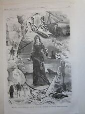 1876 MILANO LA GIOCONDA PONCHIELLI ALLA SCALA xilografia Illustrazione Italiana