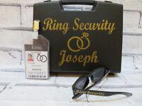 Ring Security Box + sunglasses + badge, Ring security set, wedding ring box, set