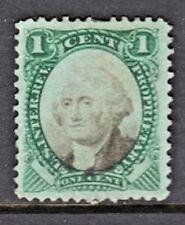 US PROPRIETARY Stamp (Scott RB1b) 1874 1c green & black on Green Paper USED