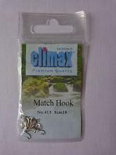 Climax premium quality Match fishing 25 hooks size 18 spade end barbed No 415