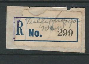 Registration Labels Australia NSW Tullymorgan  #299 PO closed 1969