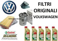 KIT TAGLIANDO FILTRI ORIGINALI + OLIO CASTROL VW GOLF V 5 / PLUS 1.9 2.0 TDI