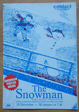 The Snowman fold out poster programme Contact Theatre Company 1985