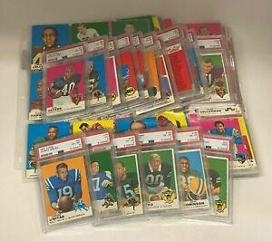 1969 Topps Football Complete Set w/ (20) PSA Graded Cards Unitas Sayers Namath +