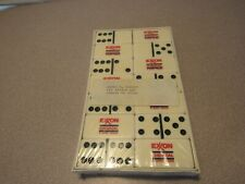 Advertising Exxon Chemical Dominoes Game Set Tournament Extra Thick Large Face