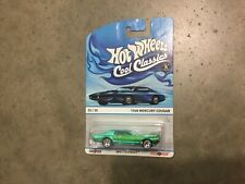 Hot Wheels Cool Classics Spectrafrost green 1968 Mercury Cougar, FREE shipping!