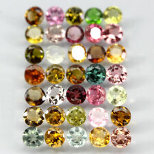 VVS 6.70 Ct. 3.6mm 35pcs. Round Cut 100% Natural Top Fancy Colors Tourmaline Lot