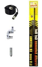 NEW CB RADIO FIRESTIK FL4, FL4B 4FT CB ANTENNA BLACK, 9FT COAX, MOUNT, SPRING
