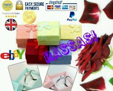 Wholesale Quality 24x Luxury Bow Jewellery Gift Ring Box UK SELLER