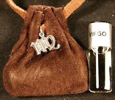 Virgo (dark brown suede) Zodiac essence medicine bag-
