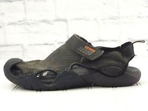 CROCS SWIFTWATER #15041 Men's Brown/Black Sport Sandals US 9.5 - 10