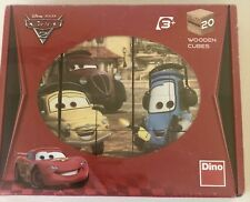 NEW Disney Pixar Wooden Blocks The Cars 2 By Dino - FREE SHIP