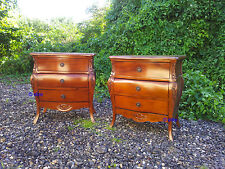 Handmade Mahogany bedside table nightstand with 4 drawers ( 1 secret drawer )