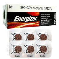 6 x Energizer 395 399 batteries Silver Oxide 1.55V SR927SW SR57 Watch