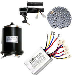48V 1000W Brush Electric Bicycle Conversion Kit E-Bike Cycling Motor Controller