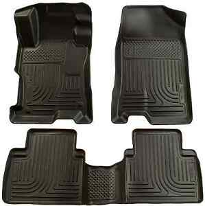 For 2009-2013 Toyota Corolla Husky WeatherBeater Black Front 2nd Row Floor Liner