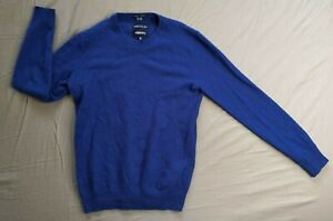 Superdry Men's Blue Idris Elba Cashmere Jumper Size S Small Used Condition